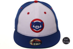 Hat Club Original New Era 59Fifty Chicago Cubs 1979 Rail Fitted Hat - White, Royal