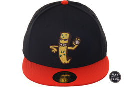 New Era 59Fifty Thrill SF DE Garlic Fry Man Fitted Hat - Black, Orange .