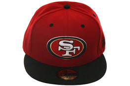 New Era 59Fifty San Fransisco 49ers Fitted Hat - 2T Red, Black