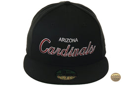 Hat Club Exclusive New Era 59Fifty Arizona Cardinals Script Fitted Hat - Black
