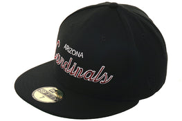 Exclusive New Era 59Fifty Arizona Cardinals Script Hat - Black
