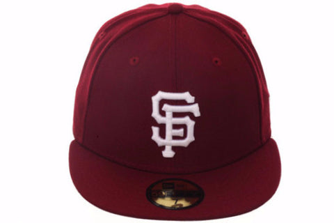 New Era 59Fifty San Francisco Giants Fitted Hat - Cardinal, White