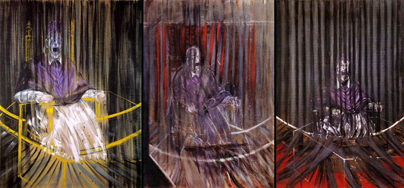 Studies after Vélasquez's Portrait of Pope Innocent X by Francis Bacon, 1940s-1960s. Image via Tumblr