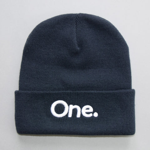 Volume One Navy Blue Cuffed Beanie