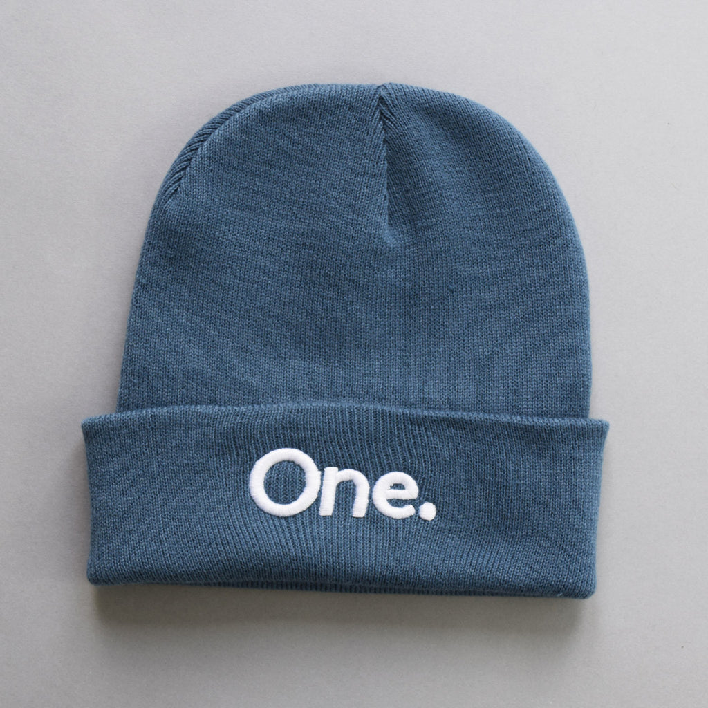 Volume One Airforce Blue Cuffed Beanie