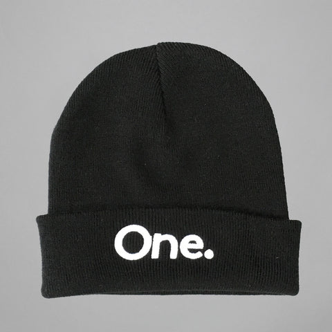 Volume One Black Cuffed Beanie