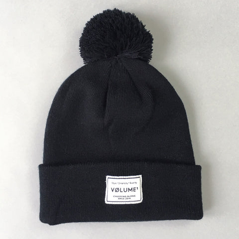 Volume One Black Bobble Beanie