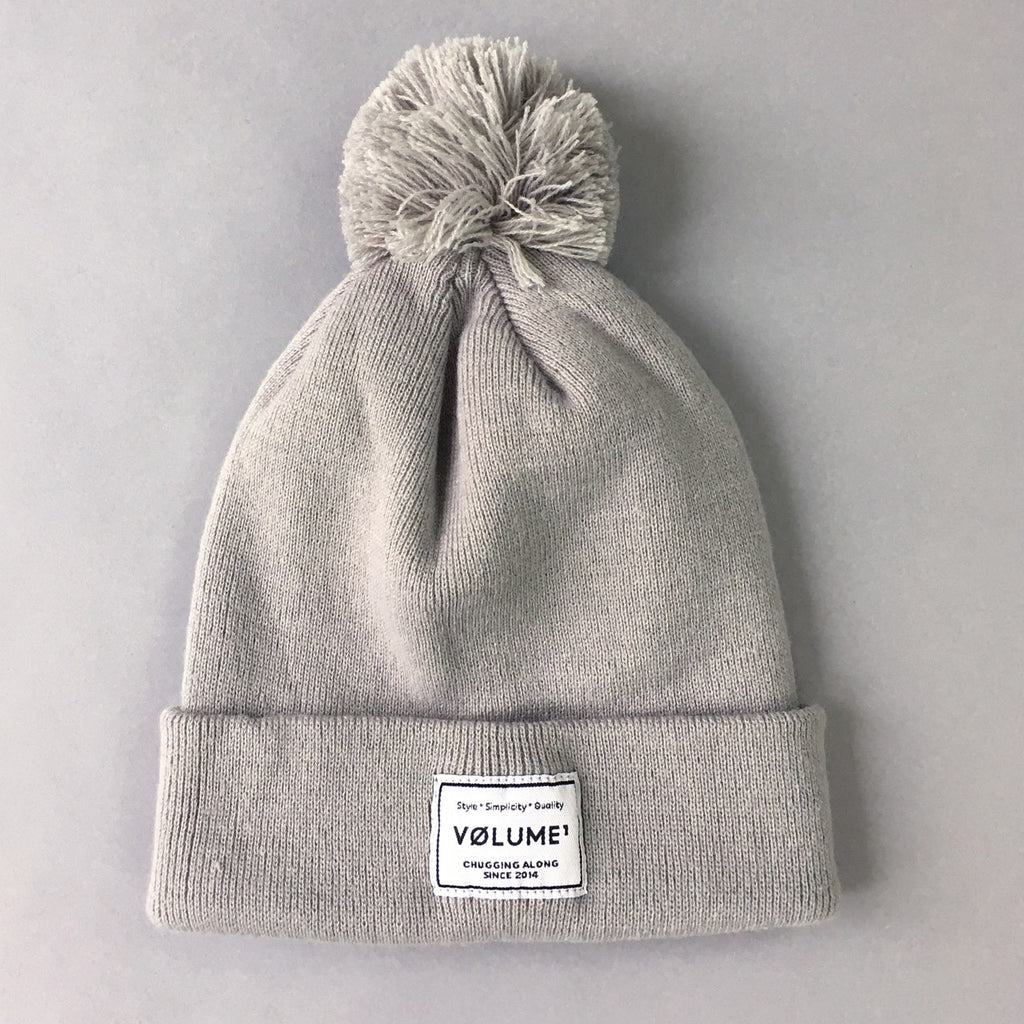Volume One Grey Bobble Beanie