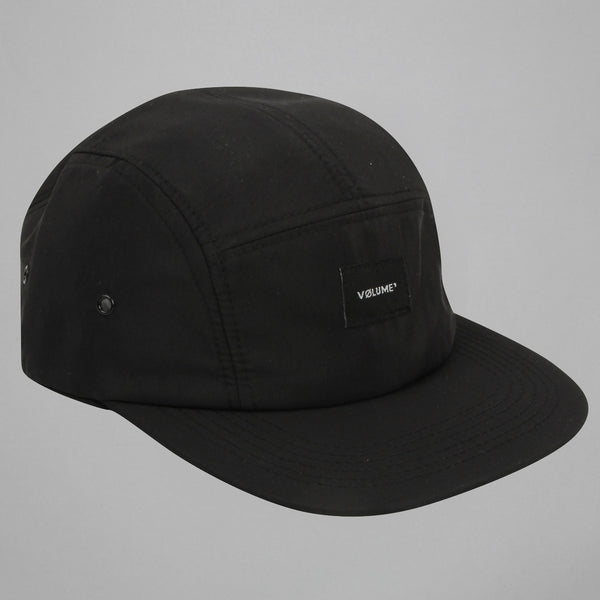 Volume One Black Nylon 5 Panel Hat