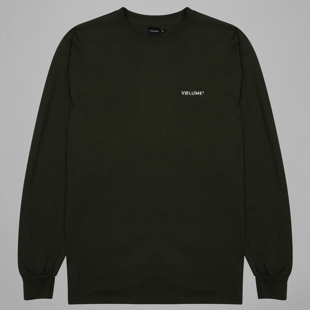 Volume One Forest Green Long Sleeve Logo Tee