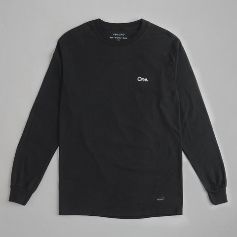 Volume One Black Long Sleeve Tee