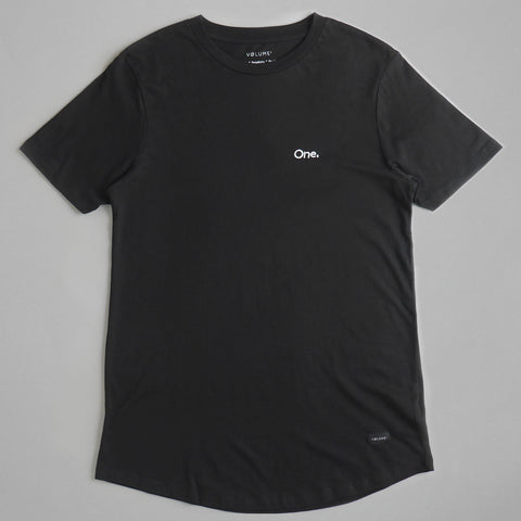 Volume One Black Longline Tee