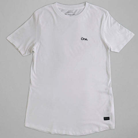 Volume One White Longline Tee