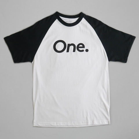 Volume One Navy Raglan Tee