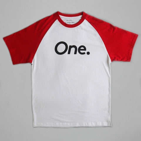Volume One Red Raglan Tee