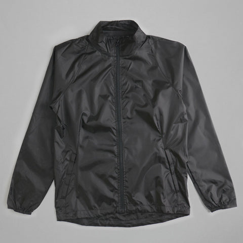 Volume One Black Windbreaker Jacket