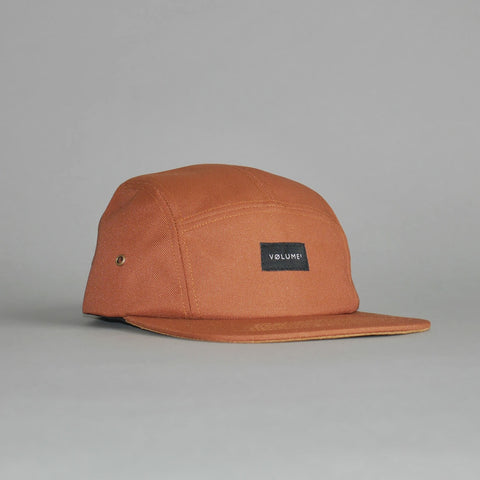 Volume One Burnt Orange Polyester 5 Panel Hat