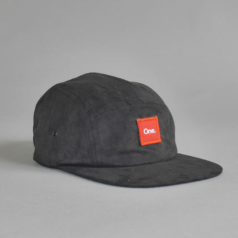 One. Black Suede 5 Panel