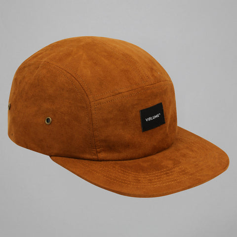Volume One Brown Suede 5 Panel Hat