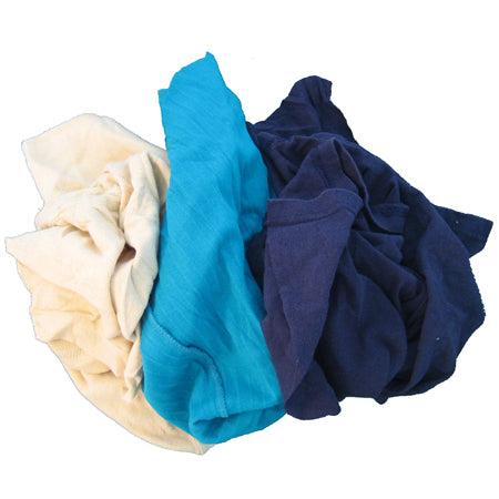Colored Recycled T-Shirt Rags, Bulk Pack