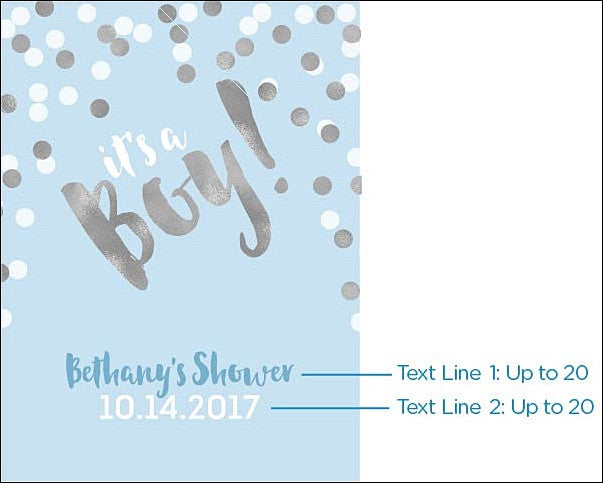 Its A Boy Personalized Printed 18x 24 Baby Shower Sign Jaclyn