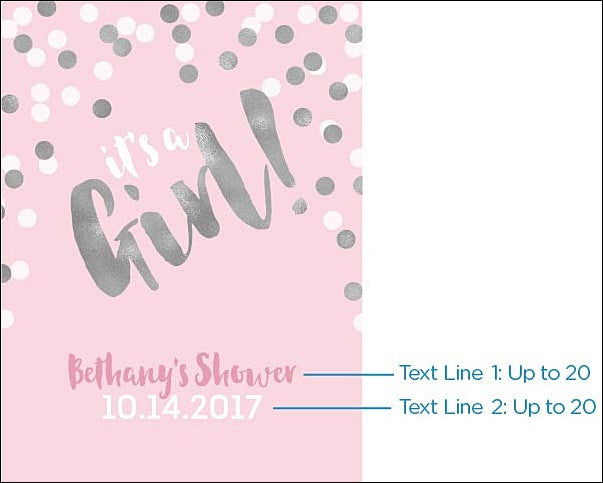 Its A Girl Personalized Printed 18x 24 Baby Shower Sign Jaclyn