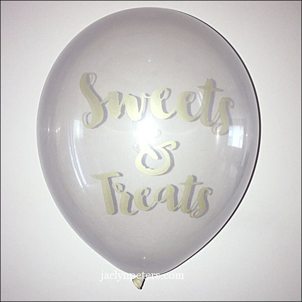 Sweets & Treats Clear Balloons Set Of 3 - Jaclyn Peters Designs - 1