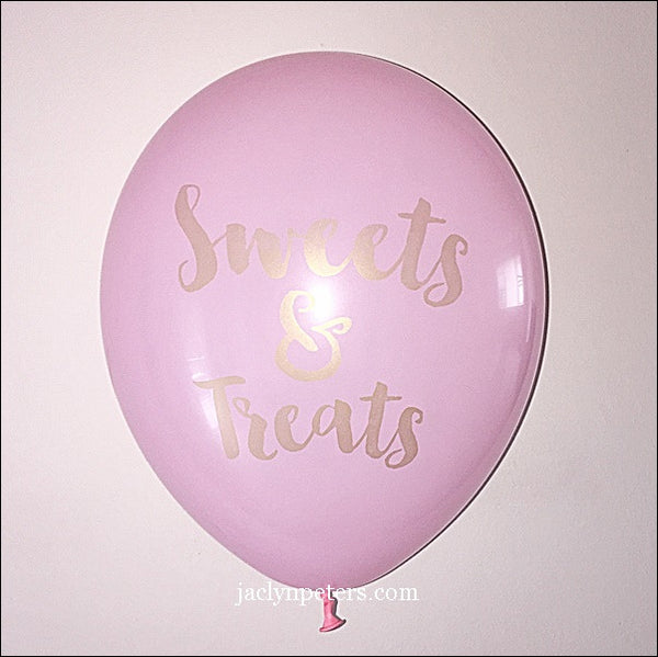 Pink And Gold Sweets Balloons Set Of 3 - Jaclyn Peters Designs - 1