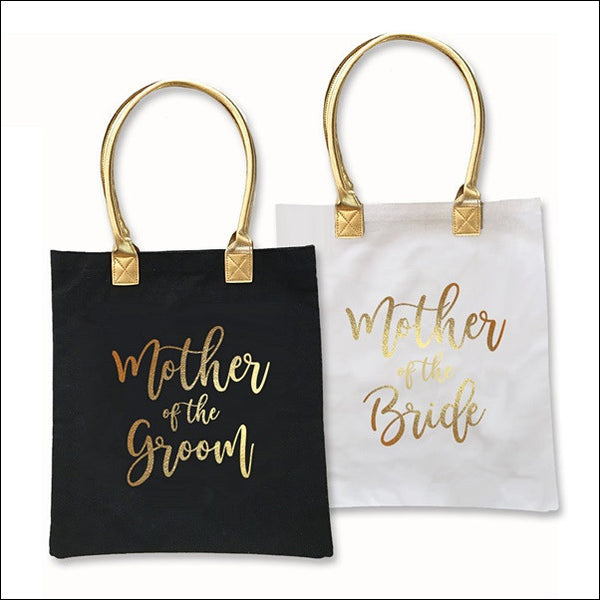 Mother Of The Bride Or Groom Gold Foil Printed Tote Bag