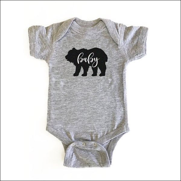 Boys Rustic Baby Bear Cotton Bodysuit
