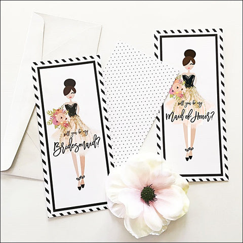 Bridesmaid Proposal Gift Cards Set Of 8