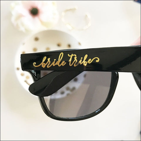 Black And Gold Bride Tribe Sunglasses Set Of 6