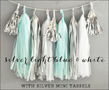 Silver, Baby Blue & White Party Garland Kit - Jaclyn Peters Designs - 1