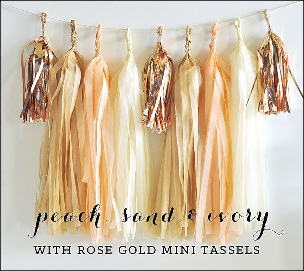 Peach & Rose Gold Tassel Garland Kit - Jaclyn Peters Designs - 1