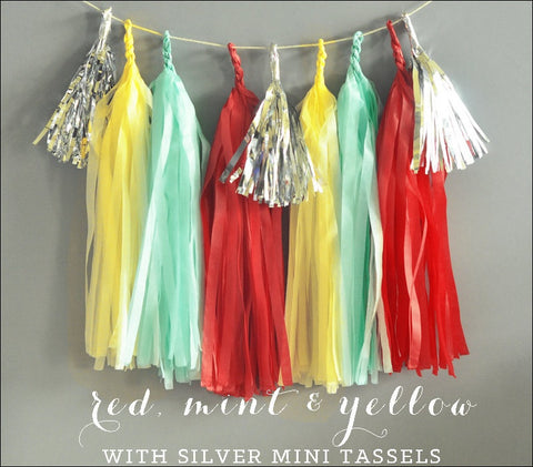Carnival Party Theme Tassel Garland Kit - Jaclyn Peters Designs - 1