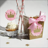 Pink & Gold Princess Popcorn Boxes - Jaclyn Peters Designs - 2