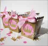 Pink & Gold Princess Popcorn Boxes - Jaclyn Peters Designs - 3