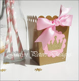 Pink & Gold Princess Popcorn Boxes - Jaclyn Peters Designs - 1