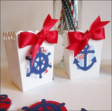Ahoy It's A Boy Popcorn Favor Boxes - Jaclyn Peters Designs - 2