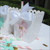 Vintage Baby Carousel Horse Popcorn Favor Boxes - Jaclyn Peters Designs - 2