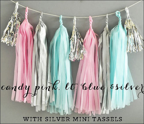 Gender Reveal Party Tassel Kit - Jaclyn Peters Designs - 1