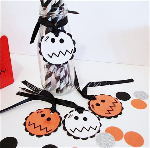 Baby Monster Halloween Party Favor Tags - Jaclyn Peters Designs - 1
