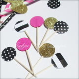 Kate Spade Theme Party Appetizer Picks - Jaclyn Peters Designs - 1