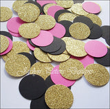 Hot Pink, Black & Gold Confetti - Jaclyn Peters Designs - 2