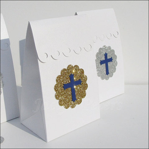 Boys Baptism Or Communion Candy Bags - Jaclyn Peters Designs - 1