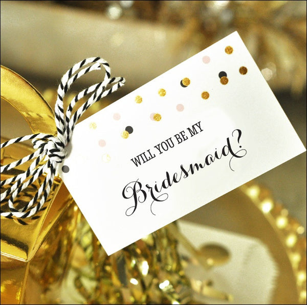 Will You Be My Bridesmaid? Gift Tags & Tassel Kit - Jaclyn Peters Designs - 1