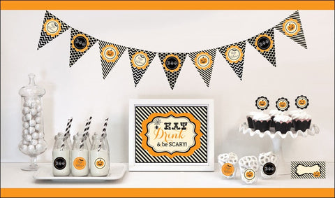 Eat Drink & Be Scary Halloween Decor Kit - Jaclyn Peters Designs - 1