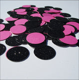 Black Glitter & Hot Pink Confetti - Jaclyn Peters Designs - 2