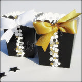 Black & Gold Favor Popcorn Boxes - Jaclyn Peters Designs - 2
