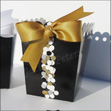 Black & Gold Favor Popcorn Boxes - Jaclyn Peters Designs - 3